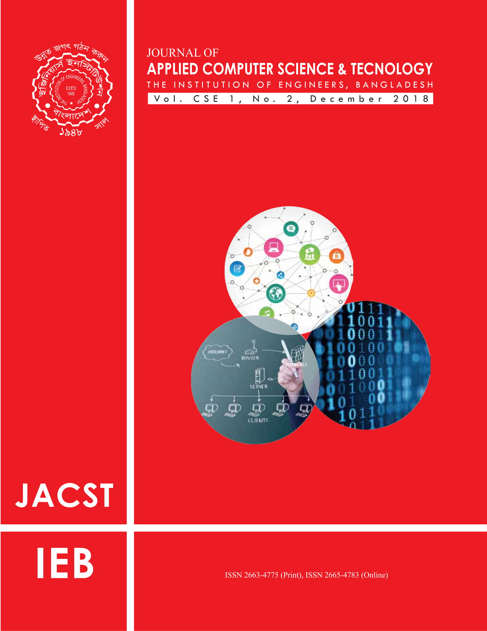 Journal of Applied Computer Science & Technology Vol 1, CSE 1, No. 2, December 2018