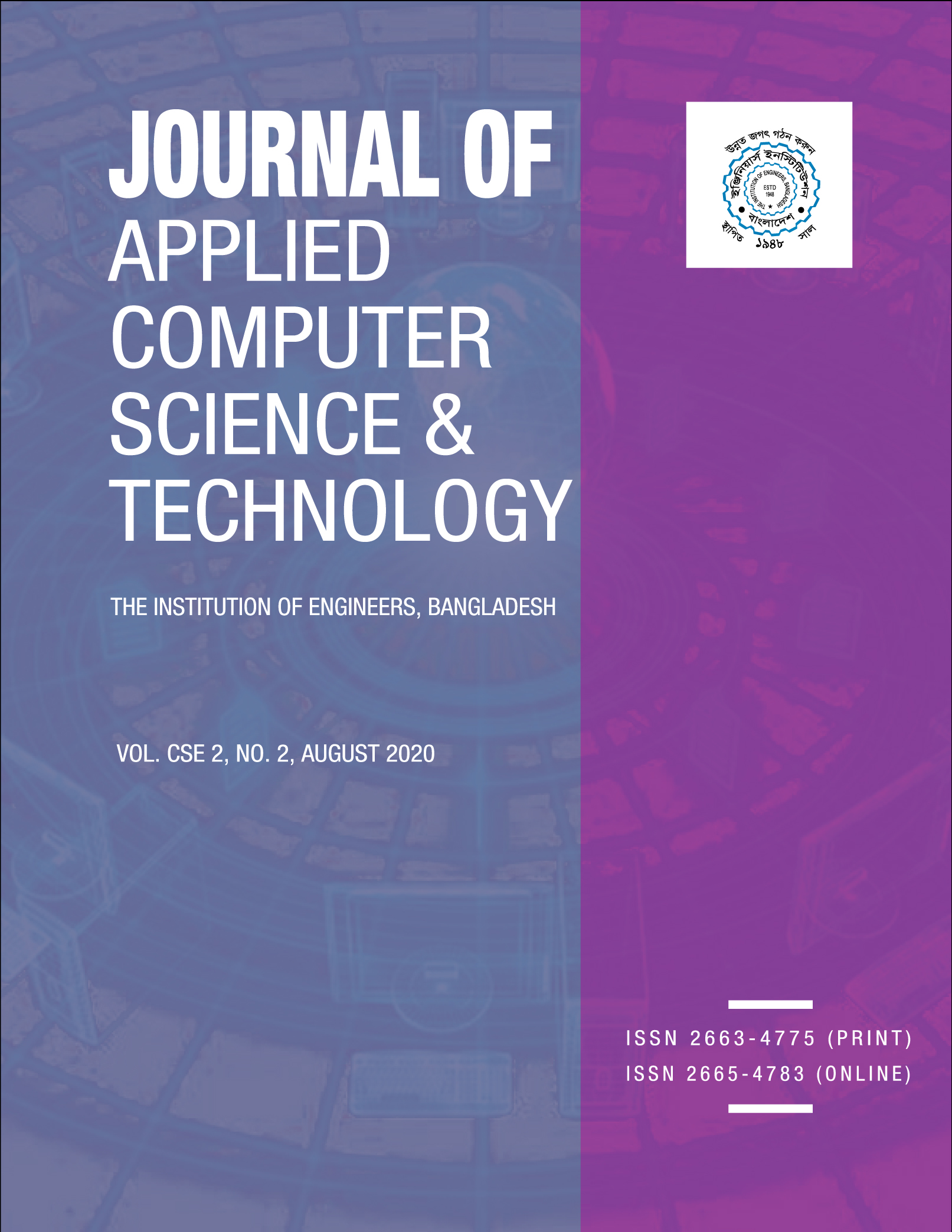 Journal of Applied Computer Science & Technology Vol:  CSE 2, No. 2, August 2020